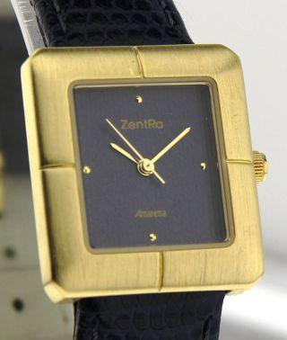 Armbanduhr Zentra Amaretta - Messing - Mineralglas - Mit Lederband Bild