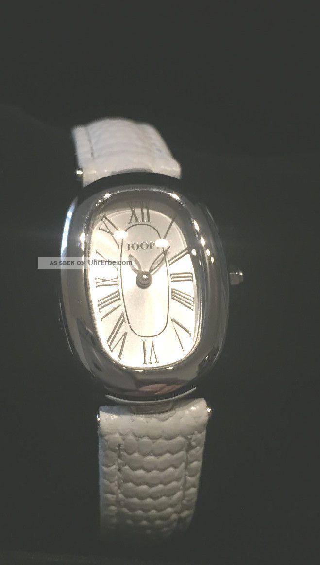 Joop Damenuhr Edelstahl Lederband Weiß Jp100422f02u Armbanduhren Bild