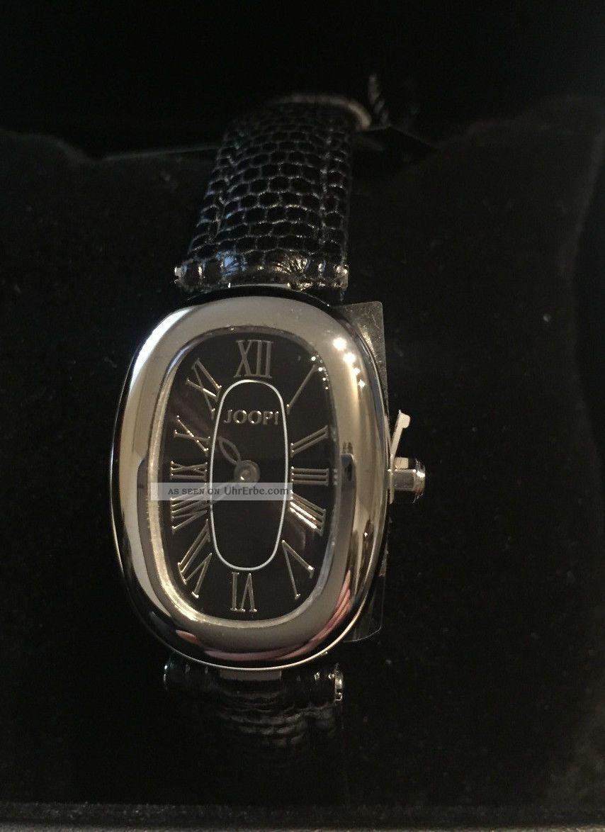 Joop Damenuhr Edelstahl Lederband Schwarz Jp100422f01u Armbanduhren Bild