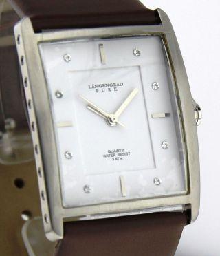 Armbanduhr Längengrad Pure - Mineralglas - Mit Lederband - Strasssteine Bild