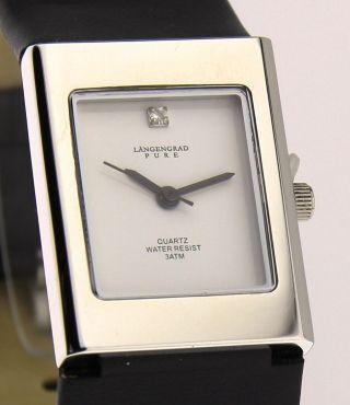 Armbanduhr Längengrad Pure - Mineralglas - Mit Lederband - Strassstein Bild