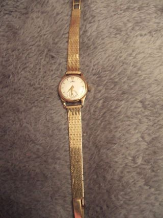 Blumus Echt Gold Armbanduhr 585 Massiv 14 Kt.  M.  Chronograph Handaufzug Vintage Bild