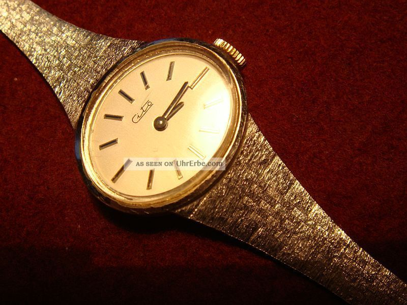 Damen Armbanduhr Der Marke Cito,  585weißgold,  Armband Massiv Armbanduhren Bild