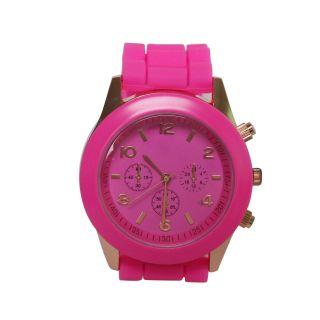 Wunderbar Unisex Silikon Taschenuhr Sport Quartz Uhr Armbanduhr In 13 Farben Bild