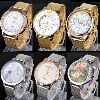 Luxus - Frauen - Dame - Mädchen - Edelstahl - Quarz - Kleid - Armbanduhr Uhren Mode Bild