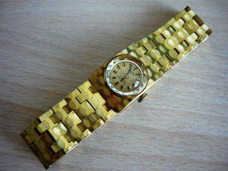 Ankra 54 Damenuhr Vergoldet Antichoc 17 Rubis Handaufzug Edelstahl Goldplated Bild