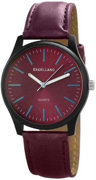 Excellanc Uhr Analoge Armbanduhr In Violett Damenuhr Mit Pu Lederband Bild