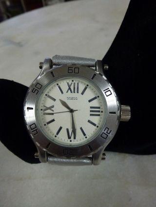 Oozoo Armbanduhr Uhr Modisch Und Sporty,  Leder Band Silber Bild