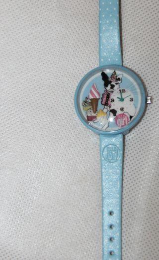 Armbanduhr - Süße Uhr Armbanduhr Hellblau Mit Hund Und Eis - - 1181 Bild