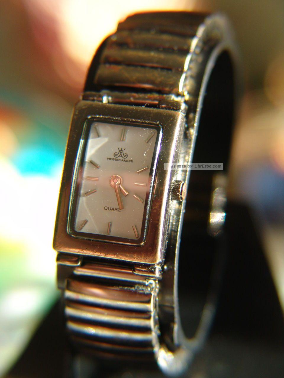 Meister Anker Damenuhr Ca.  2 Cm Neue Batterie10.  14,  Flexibel Band Armbanduhren Bild