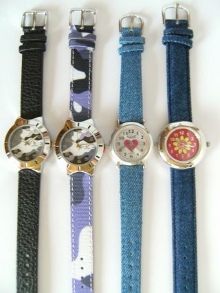 1 Youngster Armbanduhr Camouflage Herz Blume Uhr Uhren Armbanduhren Bild