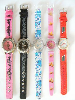 1 Youngster Armbanduhr Rosa Schwarz Sterne Krone Stifte Uhr Uhren Armbanduhren Bild