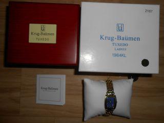 Krug Baümen Tuxedo 1964kl - G Edelstahl Damenuhr Quarzuhr Armbanduhr Rar Ovp Bild