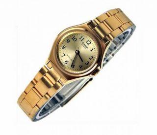 Casio Damennuhr Analog Ltp - 1130n - 9brdf Gold Damen Uhr Rund Klein Bild