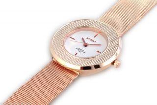 Rotgold Melanaise Edelstahl Armband Rotgoldstrukturlynette Damen Mädchenuhr Bild