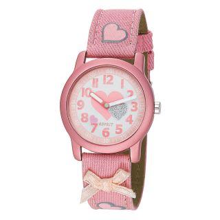 Esprit Kinderuhr Mädchen Armbanduhr Pink Rosa Weiss Herze Schleifchen Prinzessin Bild