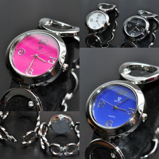 Faiberspace Elegante Strass Damen Uhr Silber Watch Kettenform Metallarmband Bild