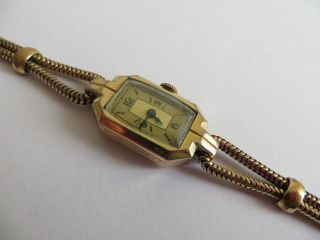 Cocktailwatch Lanco Damen Armbanduhr Handaufzug Gold Läuft 2,  5x1,  5 Cm L 17 Cm Bild