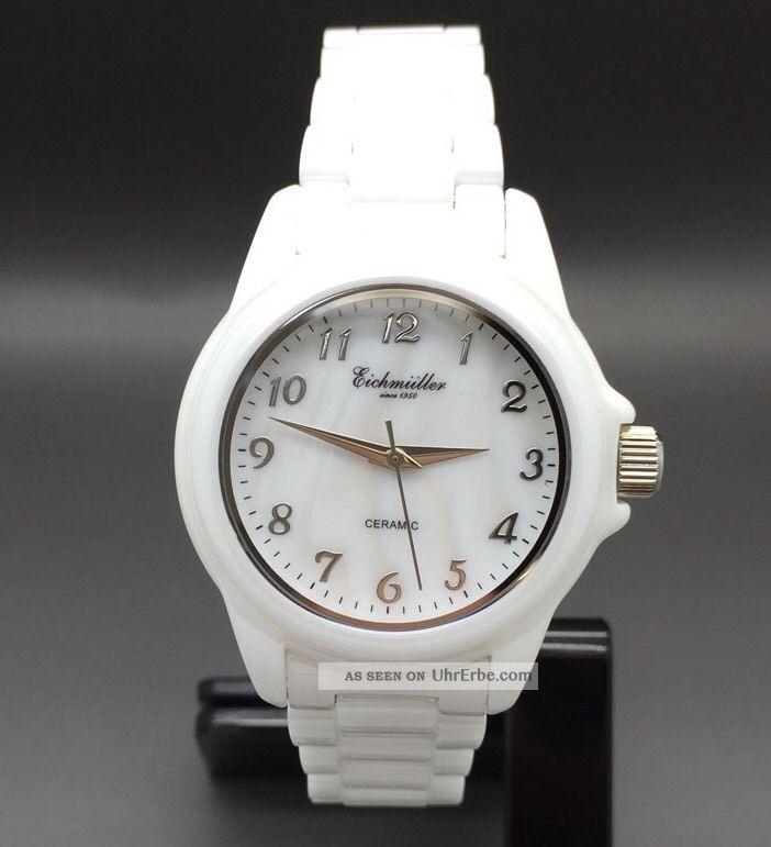 Eichmüller Uhr Damenuhr Mit Keramikarmband Keramikuhr Armbanduhren Bild