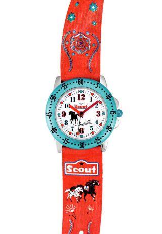 Scout Action Girls Mädchen Armbanduhr 378.  062 Santa Fee Stoff - Armband 5 Atm Bild
