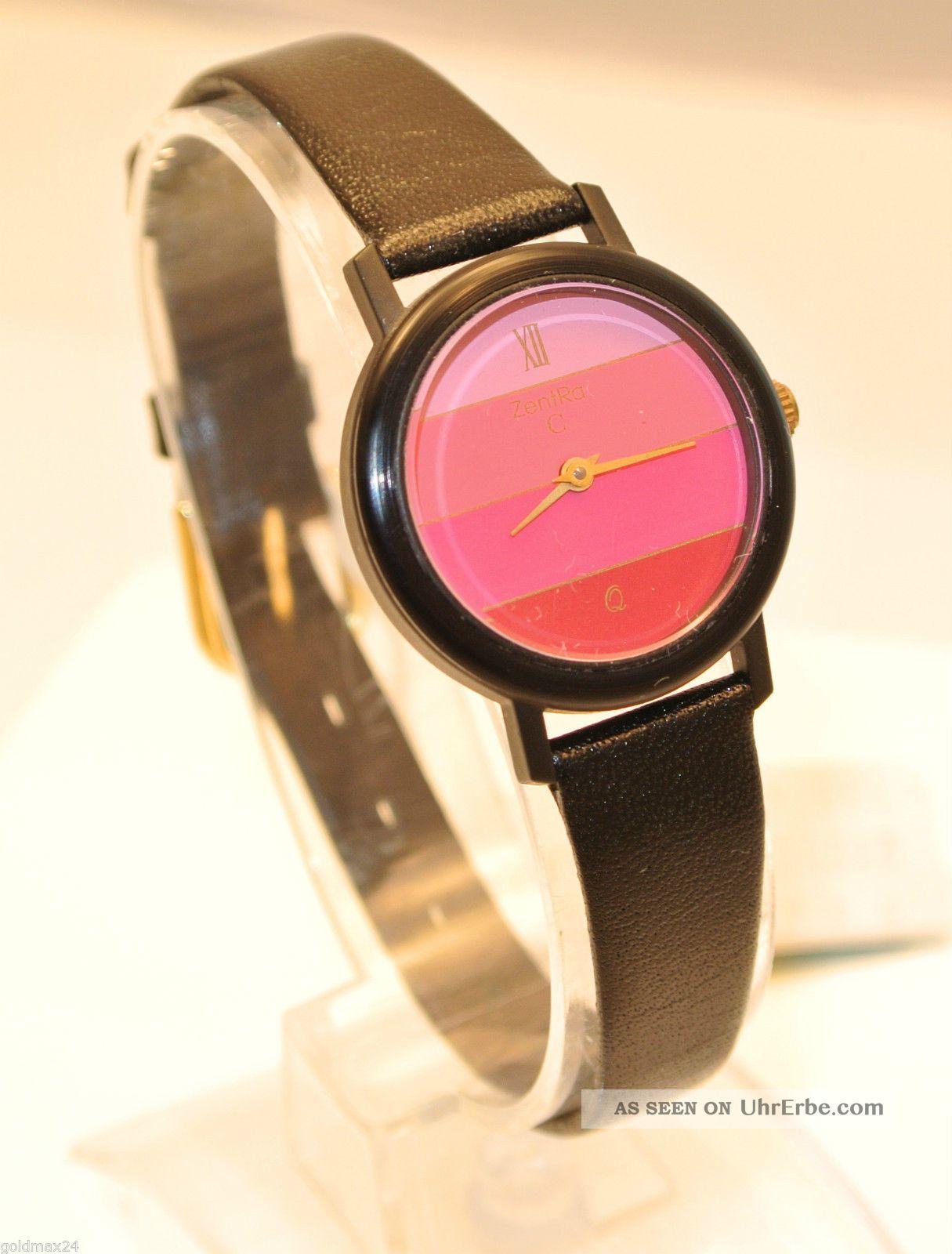 Zentra Q - Damenarmbanduhr / Quarz / Lederarmband Armbanduhren Bild