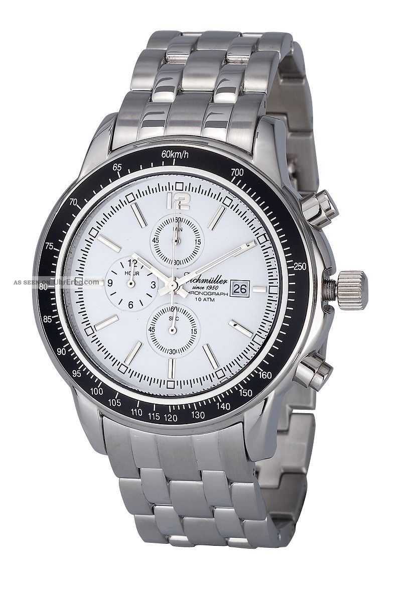 Eichmüller Herrenuhr Edelstahl Chronograph Men´s Watch Steel 10atm Miyota Os10 Armbanduhren Bild