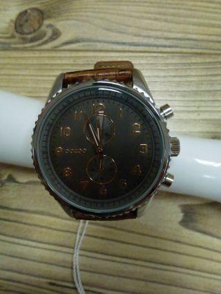Oozoo Armbanduhr Uhr Modisch Und Sporty,  Leder Band Braun Goldene Za Bild
