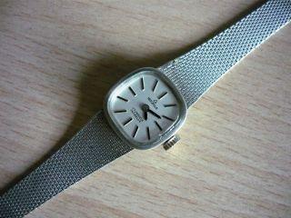 Herzfeld Damen Armbanduhr Uhr Komplett Aus Silber 835 Vintage Handaufzug Läuft Bild