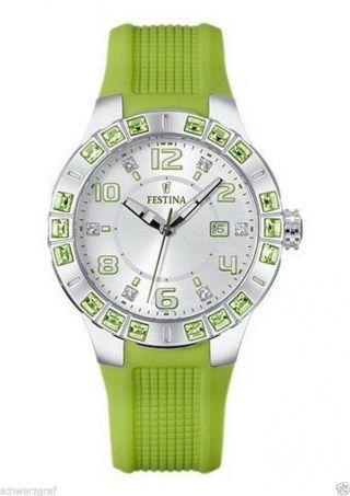 Festina - Damenuhr - Uhr - F16560/4 - Datum - Superdesign - GrÜn - Uvp99€ - - Ovp Bild