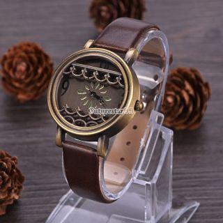 Mode Kunstleder - Frauen - Dame - Mädchen Analog Quarz - Armbanduhr 4 Farben Hot Bild