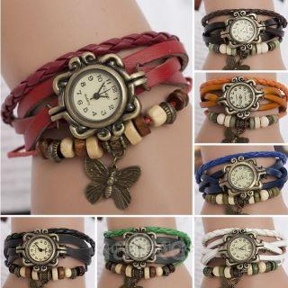 Damen Uhr Armbanduhr Damenuhren Quarzuhren Wickeluhr Lederarmbanduhr Armband Bild