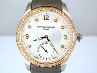 Frederique Constant Geneve Damenuhr Mit Brillantbesatz In Stahl / 750 Gold Bild