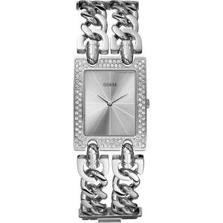 Guess Damenuhr W95088l1 Heavy Metal Silber Luxuriös Mit Steinen Besetzt Bild