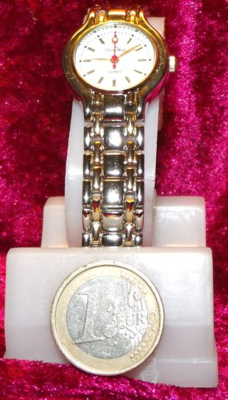 Damen Armbanduhr Calvin Wood Mit Stahlband Und Weißen Ziffernblatt Nr.  220 Bild