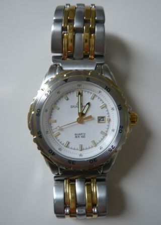 Dugena Wr100 Armbanduhr Bicolor Silber Gold Damenuhr Herrenuhr Bild
