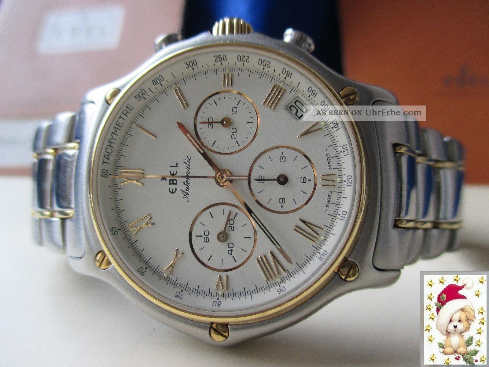 Herren Ebel 1911 Automatik Chronograph In Stahl/gold,  El Primero 400,  Box,  Pap. Armbanduhren Bild