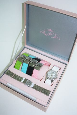 Paris Hilton Damen - Uhr Mit Austauschbändern Ph11687m Bild