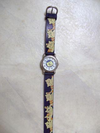 Marken Kinderarmbanduhr Armbanduhr Mit Katzenmotiv Von Meister Anker Top Bild