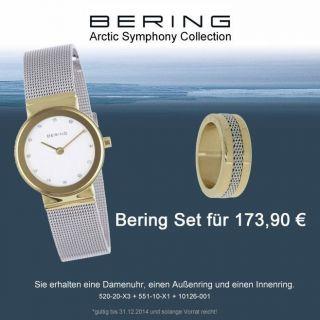 Bering Angebot Damenuhr Und Arctic Symphony Ring Gr.  9 Bild