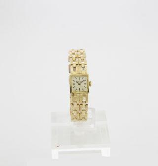 Bergana Damenuhr Mit Handaufzug - Werk Vintage Uhr In 585/000 Gelb - Gold Bild