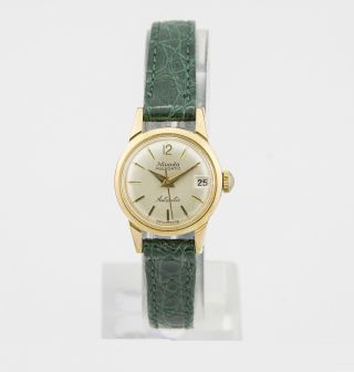 Nivada Aquadatic Swiss Made Damenuhr Mit Automatic - Werk Vintage Uhr Eta 2368 Bild