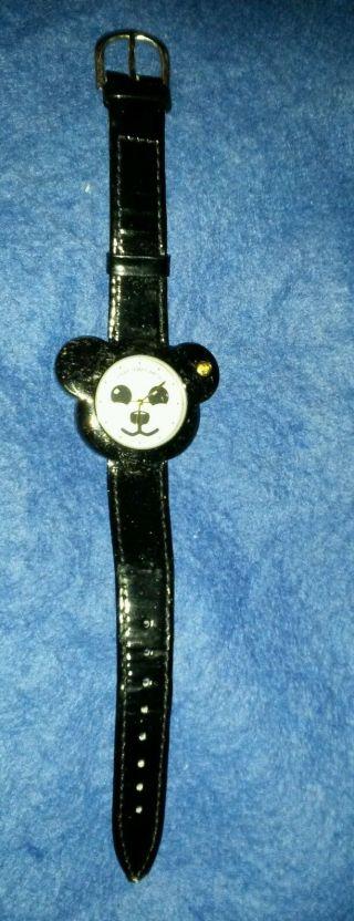 Steiff Armbanduhr Uhr Leder Bär Schwarz Teddy - Gehäuse Schwarz Grau Bild