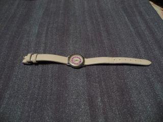 Kinder Uhr,  Fa.  Adora,  Leder Armband Weiß,  Ohne Batterie Bild