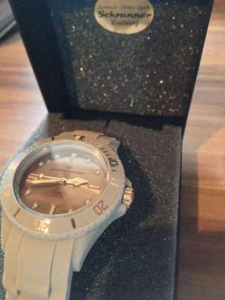 Armbanduhr Von Alpha Saphir Grau Unisex Bild