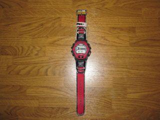 Casio G - Shock Armbanduhr Rot Dw - 004 1659 Mit Neuer Batterie Bild