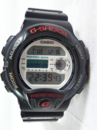 Vintage Casio G - Shock Dw 6100 Thermometer Watch - 1993 - Rare Bild
