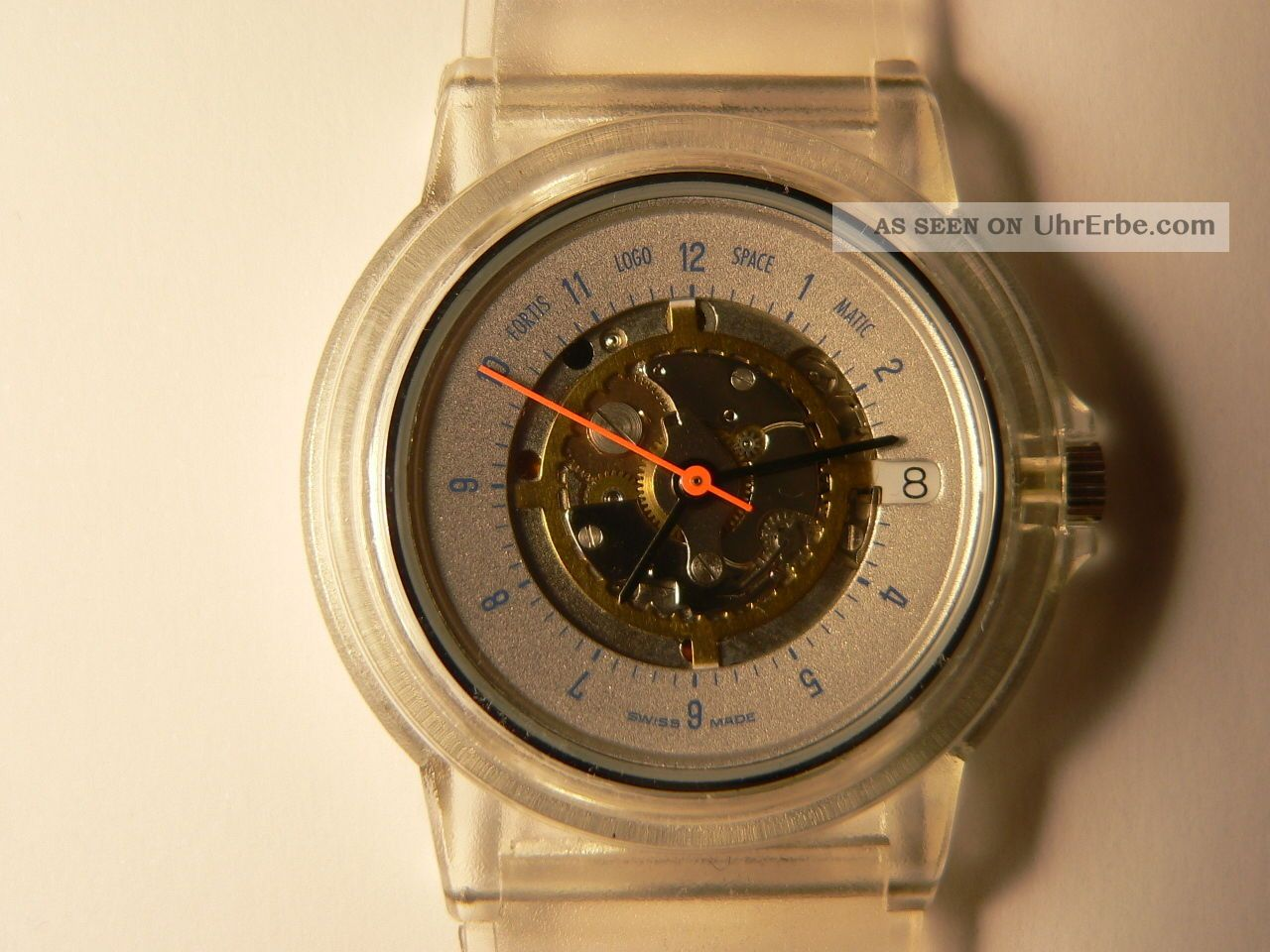 Armbanduhr Fortis Logo Space Matic Transparent Armbanduhren Bild