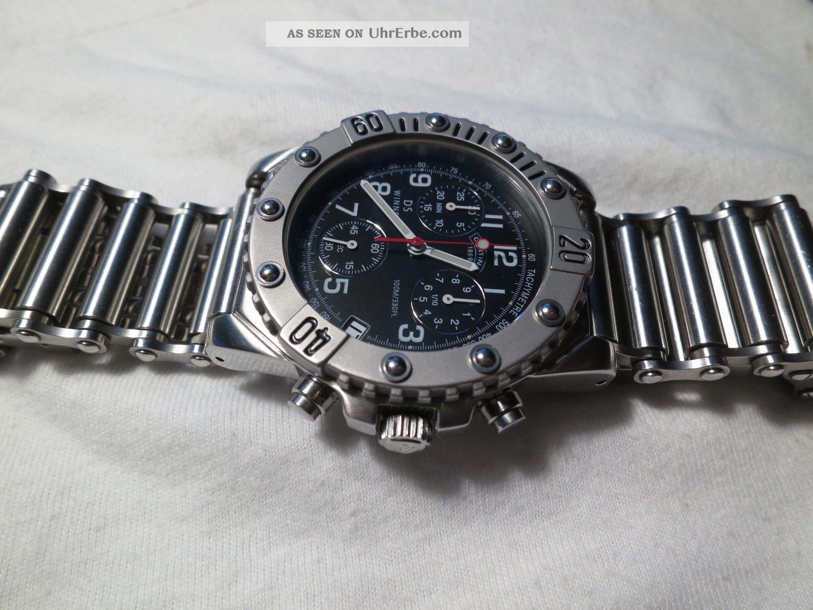 Certina Ds Winner Chronograph Fahrradkettenarmband Unikat Armbanduhren Bild