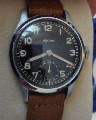 Alpina Armbanduhr Cal.  592 Alpina Aus Den 40 Er Jahren Bild