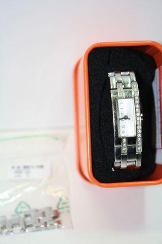 Esprit Uhr Watch Silber Schmucksteine Kristalleverlängerungselement Originalbox Bild